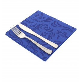 "Airlaid Napkins ""Damascato"" Blue 40x40cm (1000 Units)"
