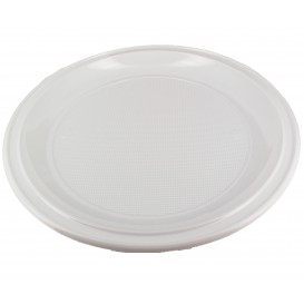 Plastic Plate PS for Pizza White 28 cm (400 Units)