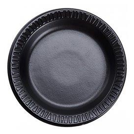 "Foam Plate ""Quiet Classic"" Laminated Black Ø18 cm (125 Units)"