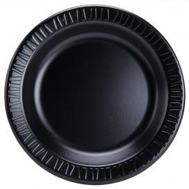 """Foam Plate """"Quiet Classic"""" Laminated Black 23 cm (500 Units)"""