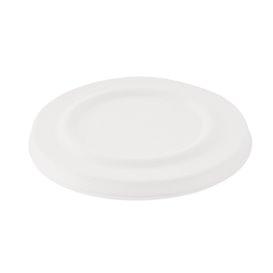 Sucarcane Lid Container 425ml White Ø9,5cm (50 Units)