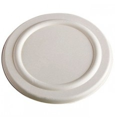Sucarcane Lid Container 425ml White Ø9,5cm (50 Units)