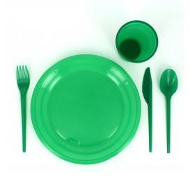 Plastic Knife PS Green 16,5 cm (900 Units)