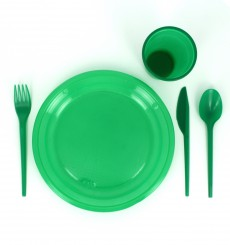 Plastic Knife PS Green 16,5 cm (15 Units)