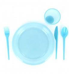 Plastic Knife PS Blue 16,5 cm (15 Units)