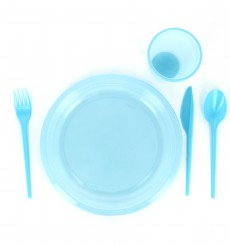 Plastic Knife PS Blue 16,5 cm (900 Units)