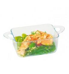 Plastic Container PS with Handles Water Green 9,6x5x3,5cm (24 Units)