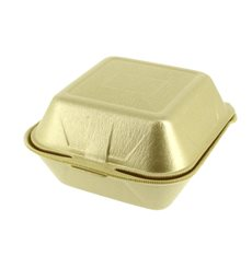 Foam Burger Boxes Take-Out Large size Gold (500 Units)