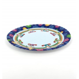 Paper Plate Clown Design 23cm (8 Units)