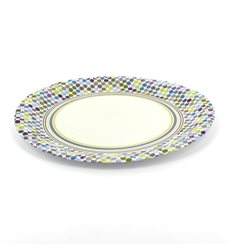 "Paper Plate ""Rayas y Topos"" Design 23cm (8 Units)"