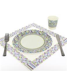 "Paper Plate ""Rayas y Topos"" Design 18cm (504 Units)"