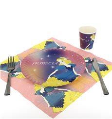 Paper Plate Princess Design 18cm (12 Units)