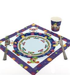 Paper Plate Clown Design 23cm (8 Units)