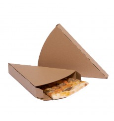 Corrugated Pizza Slice Box Kraft Takeaway (25 Units)
