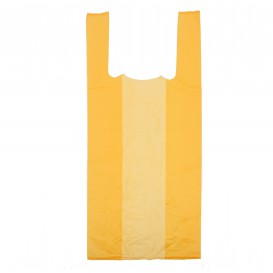 Plastic T-Shirt Bag Orange 35x50cm (200 Units)