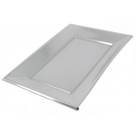 Plastic Tray Silver 33x23cm (12 Units)