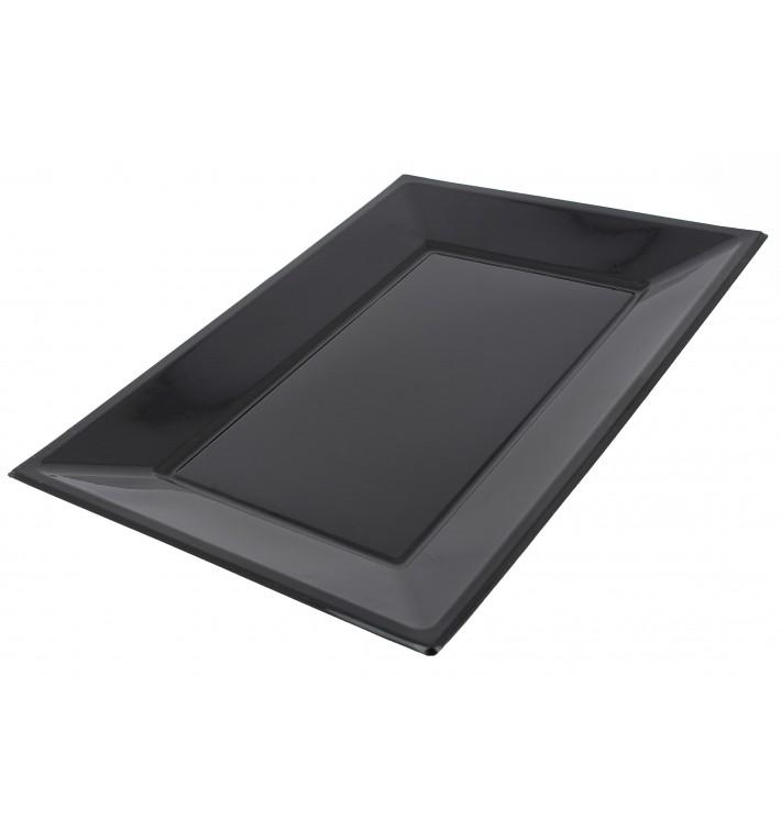 Plastic Tray Black 33x22,5cm (180 Units)
