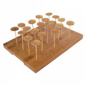Bamboo Food Pick Holder Tray 25x30x1,3cm (1 Unit)