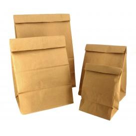 Paper Bag without Handle Kraft Brown 12+8x24cm (25 Units)