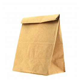 Paper Bag without Handle Kraft Brown 15+9x28cm (25 Units)
