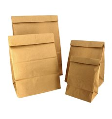 Paper Bag without Handle Kraft Brown 15+9x28cm (1000 Units)