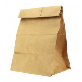 Paper Bag without Handle Kraft 25+15x43cm (25 Units)
