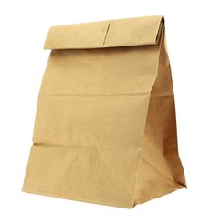 Paper Bag without Handle Kraft 20+16x40cm (25 Units)