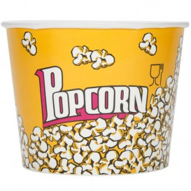 Paper Popcorn Box 5400ml 22,5x16x21cm (50 Units)