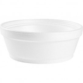 Foam Container White 8Oz/240ml Ø8,9cm (1000 Units)