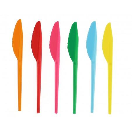 Cuchillo de Plastico PS Fucsia 165 mm (15 Uds)
