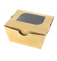 "Paper Take-out Container ""Premium"" 11x10x5,5cm 400ml (500 Units)"