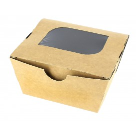 "Paper Take-out Container ""Premium"" 11x10x5,5cm 400ml (10 Units)"