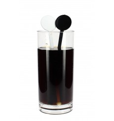 Agitador para Bebidas de Plástico Negro 175mm (100 Uds)