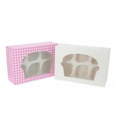 Paper Cupcake Box 6 Slot White 24,3x16,5x7,5cm (20 Units)