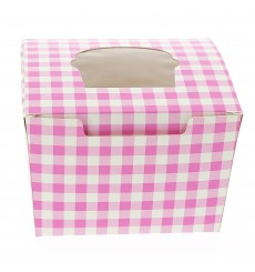 Paper Cupcake Box 1 Slot Pink 11x10x7,5cm (200 Units)