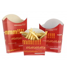 Paper French Fries Scoop Container Large size 8,2x3,3x14,9cm (25 Units)