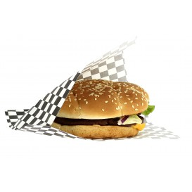 Paper Food Bag Grease-Proof Opened L Shape Black 17x18cm (4000 Units)