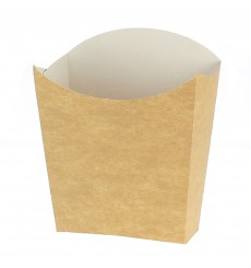 Paper French Fries Scoop Container Kraft Small size 8,2x2,2x9cm (25 Units)