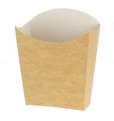 Paper French Fries Scoop Container Kraft Medium size 8,2x3,5x12,5cm (25 Units)