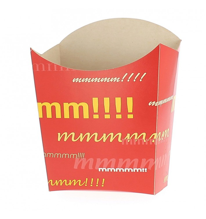 Paper French Fries Scoop Container Small size 8,2x2,2x9cm (600 Units)