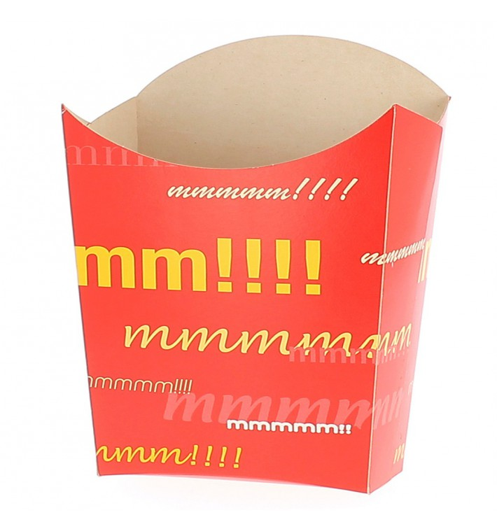 Paper French Fries Scoop Container Large size 8,2x3,3x14,9cm (400 Units)