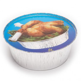 Paper Lid for Foil Pan Round Shape 1900ml (125 Units)