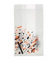 Paper Food Bag Grease-Proof Burger Design 12+6x20cm (250 Units)