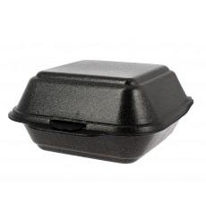 Foam Burger Boxes Take-Out Large size Black (125 Units)