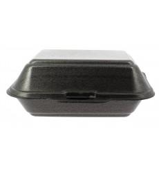 Foam Baguette Container Black 1,85x1,5x0,70cm (125 Units)