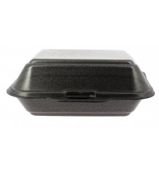 Foam Baguette Container Black 1,85x1,5x0,70cm (125 Units)
