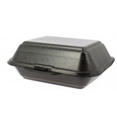 Foam Baguette Container Black 1,85x1,5x0,70cm (500 Units)