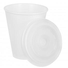 Foam Cup EPS 7Oz/200ml White + Plastic Lid (1.000 Units)