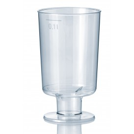 Plastic Stemmed Glass 100 ml (15 Units)
