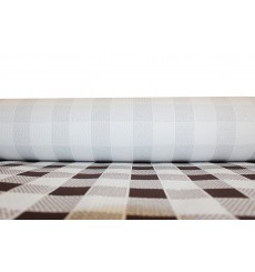 Paper Tablecloth Roll Brown Checkers 1x100m. 40g (1 Unit)
